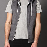 Cotton-Blend Sleeveless Hoodie
