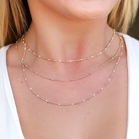 Firestone Layered Necklace in Gold