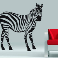 Zebra wall decals : Dezign With a Z stick ons, zebra wall decals and stickers for walls