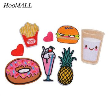 Hoomall 8PCs Mixed Patches For Clothing Iron On Embroidered Appliques DIY Apparel Accessories Patches For Clothing Fabric Badges
