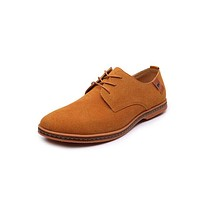 Men shoes New Fashion Suede Leather shoes Men Casual shoes oxfords for Spring Summer