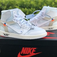 The 10: Off-White x Air Jordan 1 White Sneaker