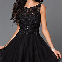 Short Sleeveless Homecoming Dress 9169