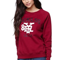 Young & Reckless League Of Honor Crew Fleece - Womens Hoodie - Red