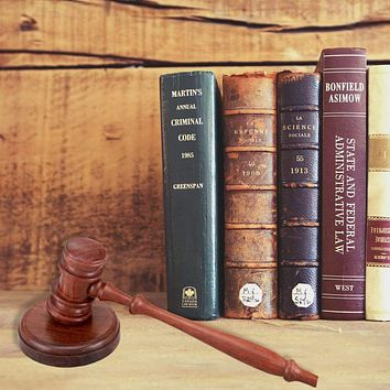 Handcrafted Wooden Gavel and Round Block Set, Natural Brown