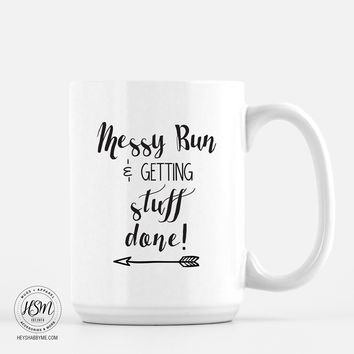 Messy Bun, Get It Done - Mug