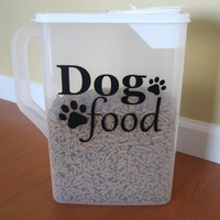 Dog Food Decal / Pet Food Decal / Cat Food Decal