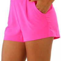 Nobody But You Shorts: Hot Pink