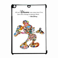 White Walt Disney Quote Mickey Mouse iPad Air Case