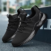 YZHYXS tennis shoes for men mesh breathable lace up adult athletic sneakers youth big boys sports trail jogging shoes big size