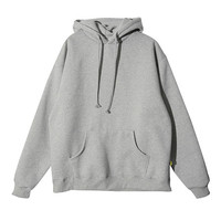 Loose Thigh-Length Hoodie (Gray) | STYLENANDA