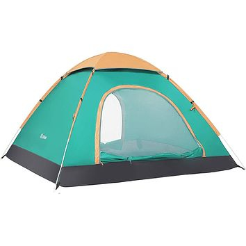 Ubon 2-3 Person Pop up Tent Instant Tent Lightweight Backpacking Tent Camping Grass Green 1-2 Person