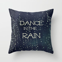 Dance in the Rain Throw Pillow by Caleb Troy