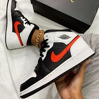 NIKE Air jordan 1 AJ1 men's and women's stitching color high-top basketball shoes sneakers #2