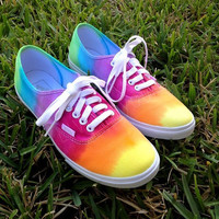 TIE DYE VANS Sale Studded Rainbow Tie Dye by LivingYoungDesigns