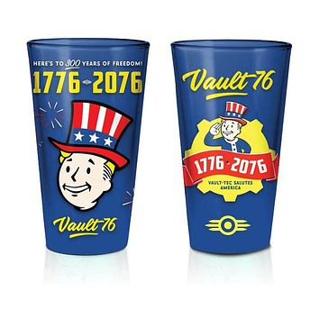 Fallout 76 Tricentennial 16-Ounce Pint Glasses (Set of Two)