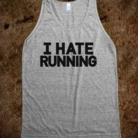 I Hate Running Tank Top (IDA90BLKT)