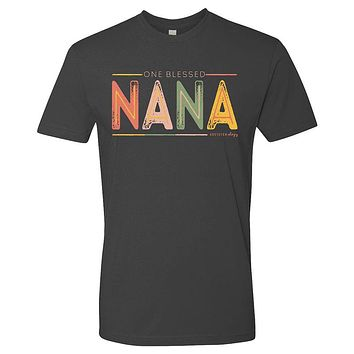 Southernology Statement Collection Nana Color Block Canvas T-Shirt