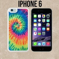 Artsy Abstract Hipster Tie Dye Custom made Case/Cover/Skin for iPhone 6 - White - Rubber Case (Ships from CA)