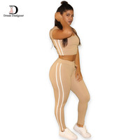 2016 Summer Casual Jumpsuit Romper 2 piece set Outfits Round Neck Hooded Bodycon Short Sleeve Sexy Jumpsuits Playsuit Sport Wear