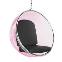Bubble Hanging Chair Pink/Black