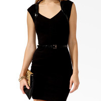 Patent Trim Sheath Dress