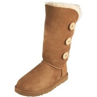 Womens UGG Bailey Triplet Button Boots 1873, Size: 7, Chestnut