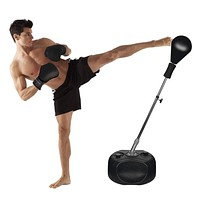 Protocol punching bag with stand | For Adults & Kids | Punching bag with stand plus boxing gloves | Adjustable height stand |Great for exercise and fitness fun for the entire family! Premium