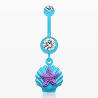 zzz-Ariel's Starfish Shell Belly Button Ring