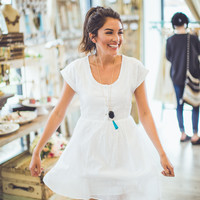 A Southern Shower Sundress in White