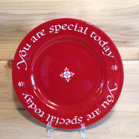 You Are Special Today by The Original Red Plate Company Newport Beach California ©1979 U. S. A.