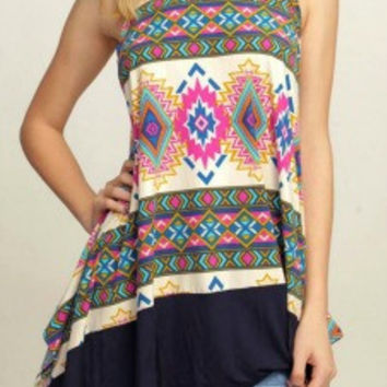 Abstract Aztec Tunic