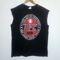 UFC TShirt / Ultimate Fighting Championship / Muscle Tee / Graphic Shirt / Fighter / Sports / Sporty / Athlete / Unisex / Women / Men