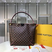 LV Louis Vuitton WOMEN'S DAMIER CANVAS HANDBAG TOTE BAG