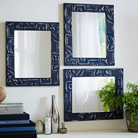 REED BLUE SQUARE MIRROR