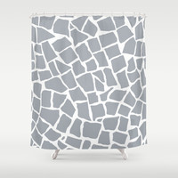 Mosaic Zoom Grey Shower Curtain by Project M   Society6