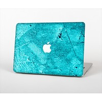 The Vibrant Blue Cement Texture Skin Set for the Apple MacBook Air 11""