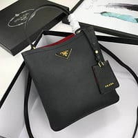 prada women leather shoulder bags satchel tote bag handbag shopping leather tote crossbody 83