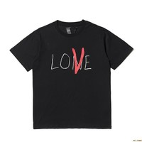 2018 summer new Vlone creative letter printing cotton round neck short-sleeved T-shirt men and women lovers