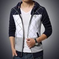 Hoodies Plaid Mosaic Men's Fashion Hats Men Jacket [6528649219]