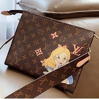 LV New fashion monogram print shoulder bag crossbody bag cosmetic bag Coffee