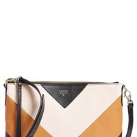 Fossil 'Sydney' Top Zip Leather Crossbody Bag - Brown