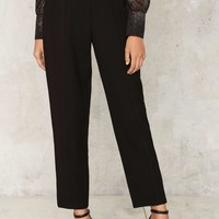 Vintage Yves Saint Laurent Textured Trousers