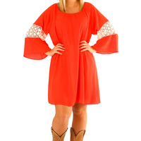 One Kiss From You Dress: Red/Cream