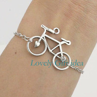 Bicycle bracelet,bike jewelry,silver chain,Outdoor enthusiasts jewelry,Party,travel,Graduation gift idea,choose color,Wholesale retail