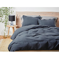 Harbor Blue Organic Relaxed Linen Bedding by Coyuchi
