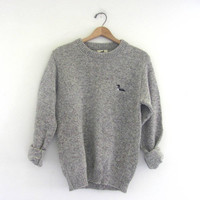 STOREWIDE SALE...vintage gray speckled sweater. pullover sweater / size small