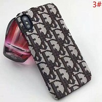 DIOR Fashion New Embroidery More Letter Women Men Phone Case