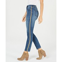 Style and Co. Womens Gold-Striped Curvy-Fit Skinny Jeans,Various Sizes