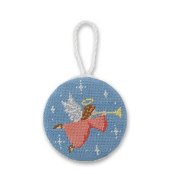 Angel Needlepoint Ornament by Smathers & Branson